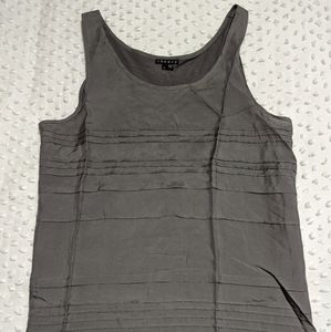 Theory Silk and Cotton Grey Tank Top Large